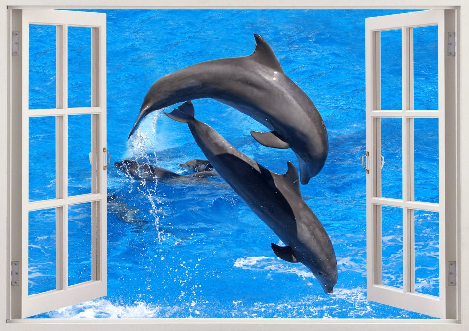 dolphin wall decal for nursery dolphin wall sticker baby room dolphin wall stickers dolphin pod family wall decals