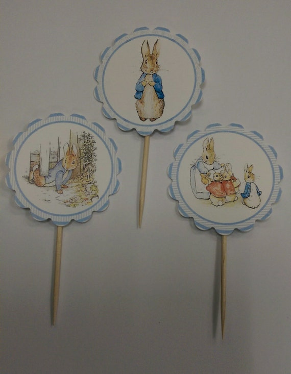 Beatrix Potter's Peter Rabbit 12 cupcake toppers by ...