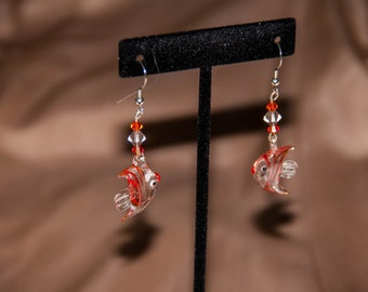 Glass Fish Earrings