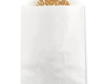 Plain White Paper Favor Bags
