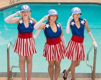 Captain America Chorus Girl Cosplay