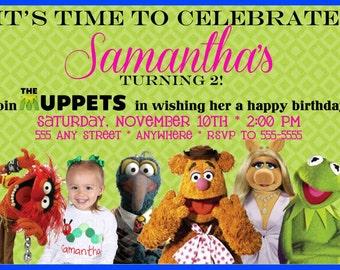 The Muppets Photo Birthday Invitation