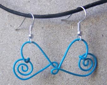 Handmade Heart Shaped Wire Earrings