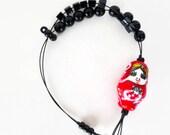 matryoshka - knitting row counter bracelet, abacus bracelet, knitters jewelry, knitting tool, knitting gift