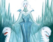 Queen of the Ice Planet art print by Johanna Öst