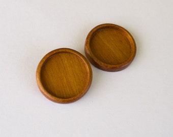 Hardwood bezels neatly finished No laser - Mahogany - 35 mm cavity - (Z353c-M) - Set of 2