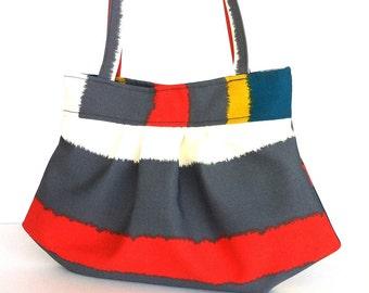 Striped summer purse Colorful canvas handbag Vegan shoulder bag  Fabric handbag, Canadian seller Summer tote bag ,Women handmade handbag