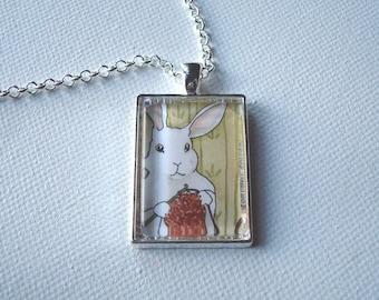 Crochet Bunny - Unique Handmade Rabbit Pendant