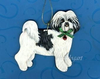 Handpainted Shih Tzu Puppy Cut Ornament