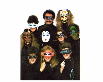 1980s Halloween Masks Costume Masquerade Simplicity 8289 Vintage Sewing Pattern UNCUT