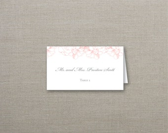 Rose Garden Tented Wedding Place Cards Deposit to Get Started