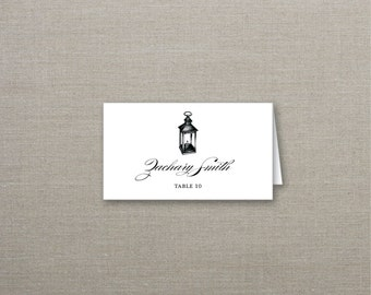 Lantern Tented Wedding Place Cards Deposit to Get Started