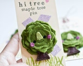 Felt Brooch - Tiny Maple Tree