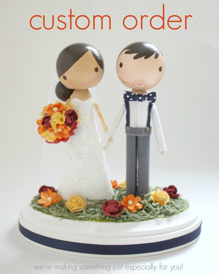 custom wedding cake topper order for KSAULONG