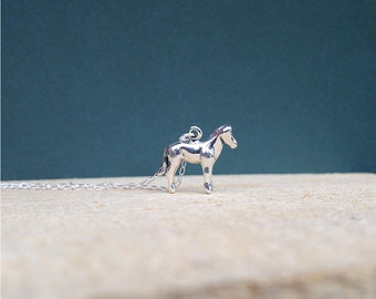 sterling silver pony necklace | charm necklace | jewelry for her