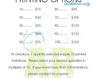 Printing - Quantities of 10