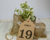 Rustic Wedding Table Numbers 1 - 15