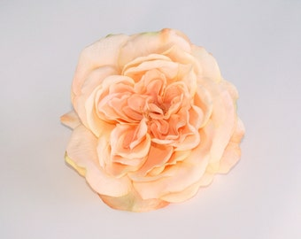 Large Light Peach Sophia Rose - Artificial Flower, Silk Flower Heads - ITEM 0463