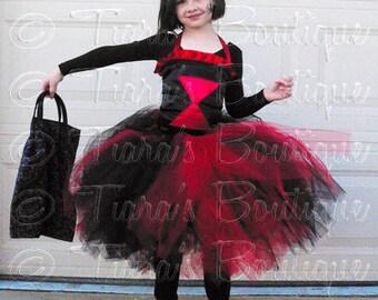 Black Widow Tutu Costume for Halloween, Black and Red Tutu and Corset, Girls Tutu Set
