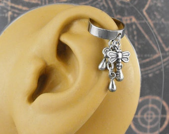 Dragonfly Silver or Golden Ear Cuff - Dragonfly Drops by COGnitive Creations