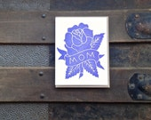 mom tattoo rose mother's day letterpress card