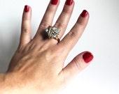CUSTOM ORDER for Elaine - Pyrite Sparkle Ring that Rocks size 7