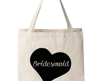 Bridesmaid tote bag Bridesmaids gift Maid of Honor flower girl