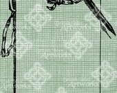 Digital Download Pen and Note Paper Border Banner Frame, digi stamp, digis, Antique Illustration Add Photos or Text