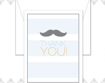 Mustache Stationery Set of 10 with envelopes