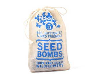 Seed Bombs - East Coast Seeds Bird Bee and Butterfly Friendly DIY Guerrilla Gardening Seed Balls