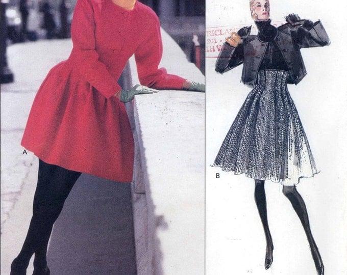LaCroix Designer Pattern High waisted skirt and Jacket vintage 90s Paris Original Vogue 2184 Christian LaCroix sewing pattern Sz 12