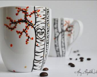 Mom Mug - Hand Painted Personalized Mug for Mom