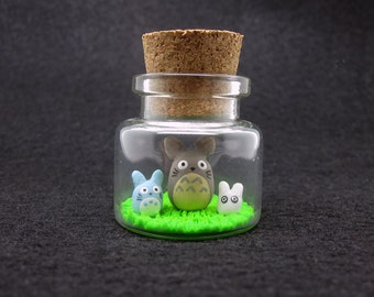 Tiny My Neighbor Totoro Studio Ghibli Decorative Bottle Art