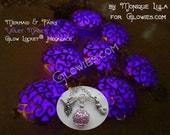 Violet Purple Pixie and Mermaid Magic Glow Locket® Necklace