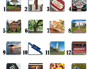 Baton Rouge Stone Coaster Set - Pick any 4 images - 16 to choose from