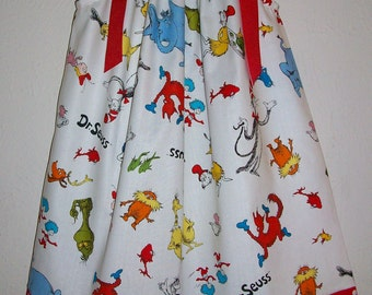 Girls Dress Pillowcase Dress Dr Seuss Party Cat in the Hat Grinch Lorax baby toddler dress