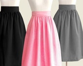 Fully lined midi skirt with pockets - custom size, length, color for your everyday look / holiday / party / bridesmaids / work
