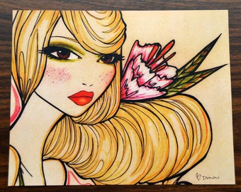 Pinup girl - 'Shannon'  Illustration by Brenda Dunn from Portland, OR