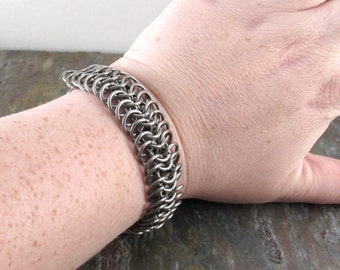 Chainmaille Stainless Steel European 6 in 1 Bracelet