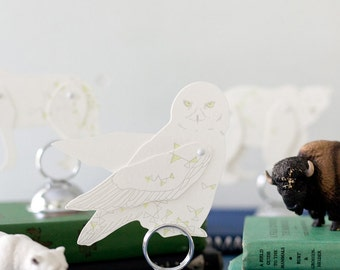 letterpress north star Owl paper toy