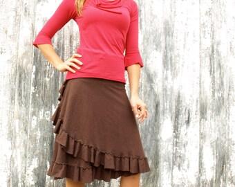Hemp and Organic Cotton Simple Ruffle Skirt