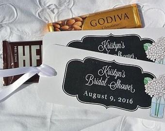 Bridal Shower Favor  | Bridal Shower |  Shower Favors | Bridal Shower Decorations | Chalkboard Favors | Godiva Candy Holder