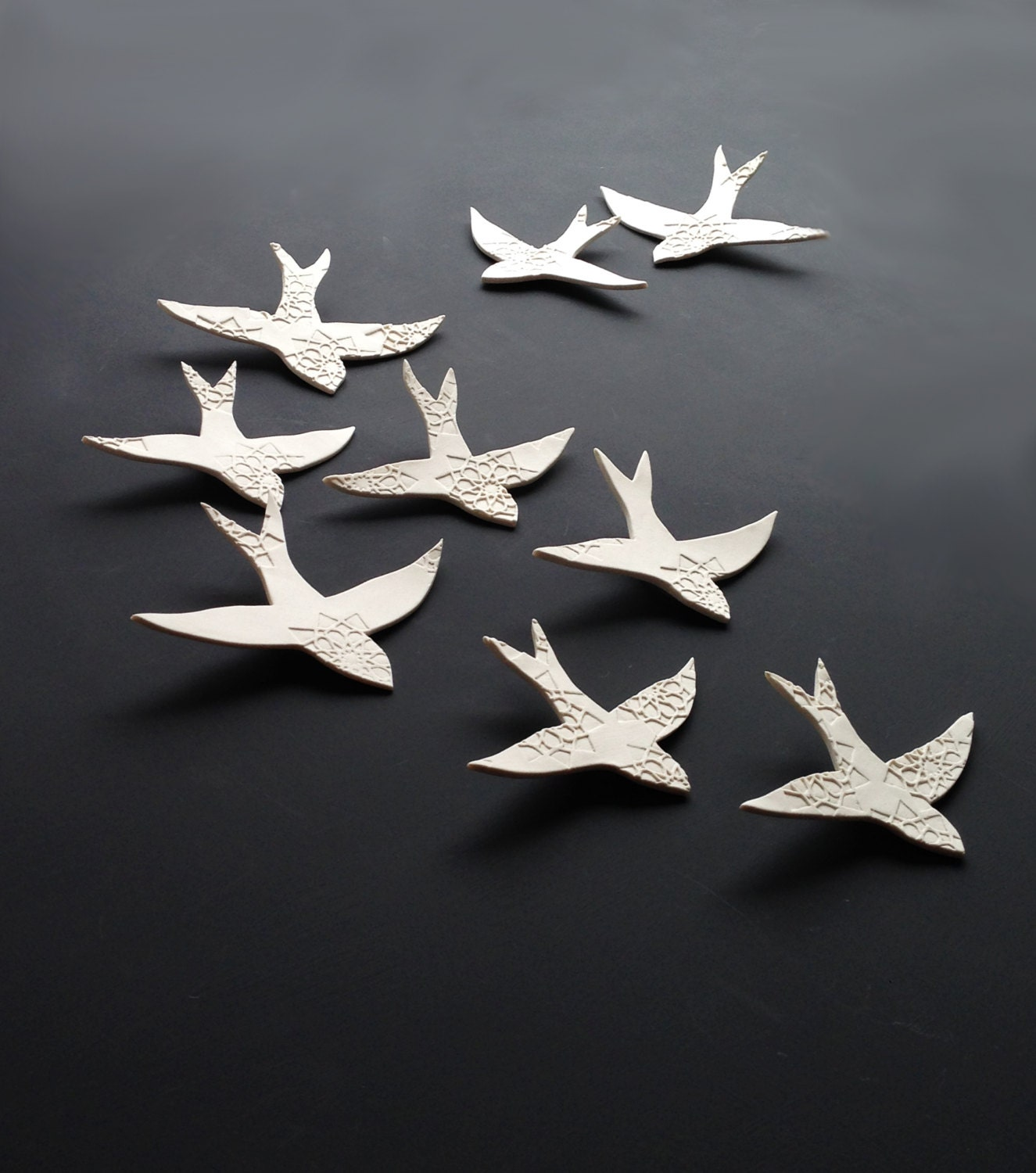 3d Wall Decor Birds : Porcelain d large wall art set swallows over by