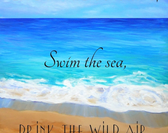 Printable Quotes, Beach art, Ocean art print, Live in the Sunshine,  Kauai art, Hawaii art, Instant Download,  DIY Printable PDF, emerson