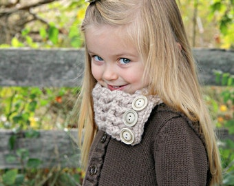 Linen Toddler Scarf Toddler Girl Scarf Toddler Boy Scarf Toddler Scaflette Linen Scarf Linen Scarflette Crochet Scarf Knit like Button Cowl
