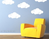 Clouds Wall Decal with Swirl - Set of 5