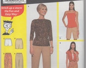 Simplicity 7016 Misses Pants, Capris and Shorts Sewing Pattern Size M, L - Free Pattern Grading E-book Included