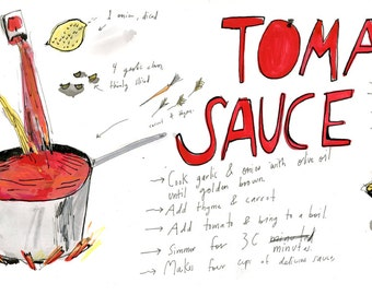Art on the Bus illustration- TOMATO SAUCE
