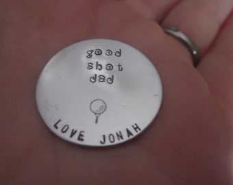 Good Shot Dad Golf ball marker putting personalized stainless steel disc putting marker for golfing