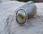 40% OFF ON SALE  Eco Friendly Recycled Sterling Silver and Tibetan Turquoise Cigar Band Ring